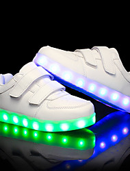 cheap -Boys' / Girls' Shoes PU Summer / Fall Light Up Shoes Sneakers LED for Kid's White / Black