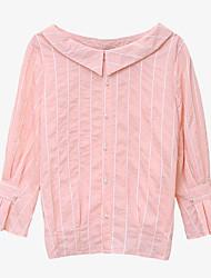 voordelige -Dames Standaard T-shirt Gestreept