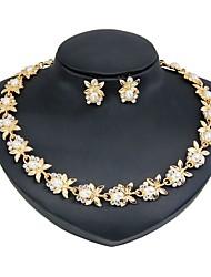 abordables -Mujer Conjunto de joyas - Perla Artificial, Chapado en Oro Básico, Moda Incluir Los sistemas nupciales de la joyería Dorado Para Boda / Regalo