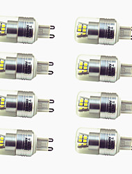 abordables -8pcs 3W 200lm G9 LED à Double Broches T 24 Perles LED SMD 2835 Décorative Blanc Chaud Blanc Froid 220-240V