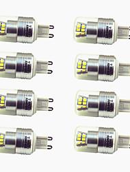 Недорогие -8шт 3W 200lm G9 Двухштырьковые LED лампы T 24 Светодиодные бусины SMD 2835 Декоративная Тёплый белый Холодный белый 220-240V