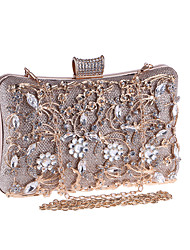 cheap -Women's Bags Metal Evening Bag Crystals Champagne / Black / Silver