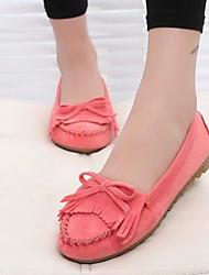abordables -Femme Chaussures Cuir Nubuck Printemps Automne Confort Mocassins et Chaussons+D6148 Talon Bas pour Gris Violet Rose