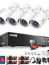 cheap -ANNKE® 4CH 1080P CCTV Security Cameras System 1TB HD with 4pcs IP Cameras