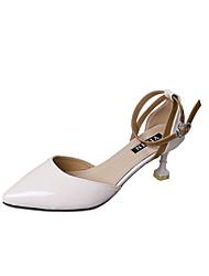 preiswerte -Damen Schuhe PU Frühling Sommer formale Schuhe Pumps Sandalen Blockabsatz Runde Zehe Schnalle für Büro & Karriere Party & Festivität Kleid