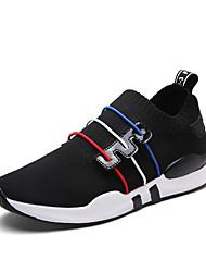 preiswerte -Damen Schuhe PU Frühling Herbst Komfort Sneakers Flacher Absatz Runde Zehe Schnürsenkel für Normal Weiß Schwarz Rot