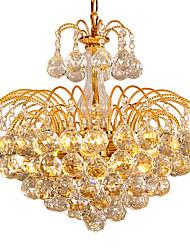cheap -6-Light Flush Mount Ambient Light - Crystal, Bulb Included, 110-120V / 220-240V, Warm White, Bulb Included / 10-15㎡