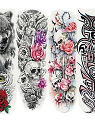 Недорогие -4 pcs Временные тату Временные татуировки Мультипликационные серии Искусство тела рука