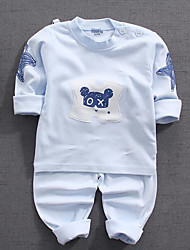 cheap -Baby Unisex Print Long Sleeves Clothing Set