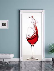 abordables -Autocollants muraux décoratifs Autocollants de porte - Autocollants muraux 3D 3D Salle de séjour Chambre à coucher Salle de bain Cuisine