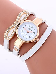 cheap -Women's Quartz Fashion Watch Chinese Imitation Diamond PU Band Casual Fashion Black White Blue Red Grey Pink Beige Dark Green