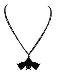 Недорогие -Ожерелья с подвесками Летучая мышь Дамы Простой Черный 45 cm Ожерелье Бижутерия Назначение Вечеринка / ужин Школа