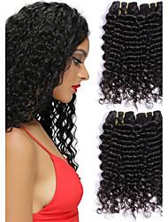 Недорогие -Перуанские волосы Волнистый Человека ткет Волосы / Накладки из натуральных волос Ткет человеческих волос Горячая распродажа Черный Все