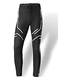 baratos -Homens Calças Elásticas para Ciclismo Moto Meia-calça Sólido Preto / Preto / Branco Roupa de Ciclismo / Elasticidade Alta