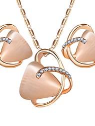 baratos -Mulheres Opala Conjunto de jóias 1 Colar / Brincos - Simples / Doce Irregular Dourado Conjunto de Jóias Para Festa / Diário