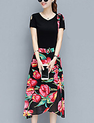 abordables -Mujer Polo - Floral Falda