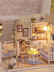 Недорогие -3D Wooden Miniaturas Dollhouse Кукольный домик Милый / утонченный Романтика Куски Детские / Взрослые Подарок