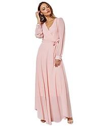 cheap -BENEVOGA Women's Street chic Sheath T Shirt Chiffon Dress - Solid Colored, Cut Out