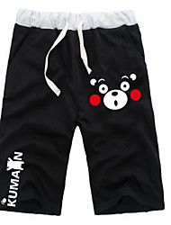 cheap -Inspired by Kumamon Hatsune Miku Monokuma Anime Cosplay Costumes Cosplay Tops / Bottoms Solid Colored Anime Mid Length Pant Shorts For All