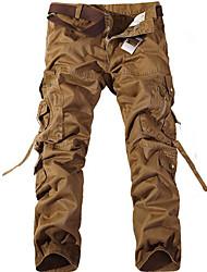 economico -Per uomo Pantaloni cargo Esterno Indossabile, Fitness, Sci di fondo Autunno / Inverno Pantalone / Sovrapantaloni Attività all'aperto /