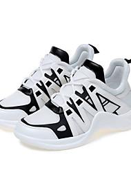 abordables -Mujer Zapatos Licra Primavera / Verano Confort Zapatillas de deporte Tacón Plano Blanco / Negro