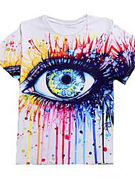 preiswerte -Herrn Einfarbig-Grundlegend T-shirt