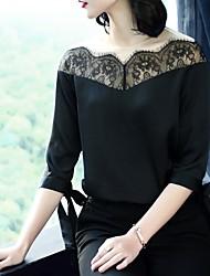 cheap -XSSL Women's Vintage Cute Blouse-Solid Colored Color Block