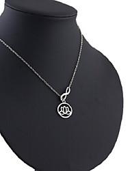 Недорогие -Ожерелья с подвесками  -  Цветы Милая, Мода Серебряный 48 cm Ожерелье Назначение Подарок, Повседневные