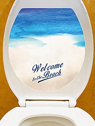 Недорогие -Наклейка на стену Декоративные наклейки на стены Наклейки для туалета - Простые наклейки Пейзаж 3D Положение регулируется Съемная