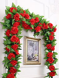 Недорогие -Искусственные Цветы 1 Филиал Вечеринка Свадьба Розы Цветы на стену