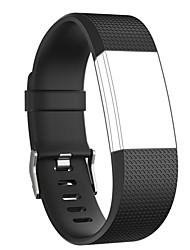 Недорогие -Ремешок для часов для Fitbit Charge 2 Fitbit Современная застежка силиконовый Повязка на запястье