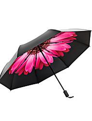 Недорогие -1pcs ПК Ткань Жен. Взрослые Солнечный и дождливой Ветроустойчивый новый Складные зонты