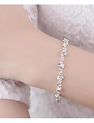 abordables -Femme Chaînes & Bracelets - Fleur simple, Mode Bracelet Argent Pour Mariage / Rendez-vous