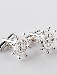 cheap -Circle Silver Cufflinks Alloy European / Fashion Men's Costume Jewelry For Wedding / Formal