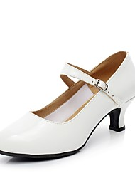 cheap -Women's Modern Patent Leather Heel Indoor Outdoor Splicing Customized Heel White Customizable