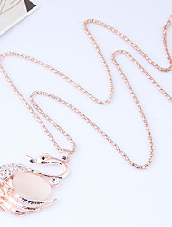 cheap -Women's Swan Rhinestone Pendant Necklace  -  Animals Fashion European Gold Necklace For Causal