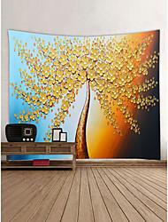 abordables -Thème jardin Paysage Décoration murale 100 % Polyester Moderne Nouvel An Art mural, Tapisseries murales Décoration