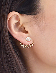 cheap -Front Back Earrings / Ear Jacket - Flower Fashion Gold / Silver For Daily / Date