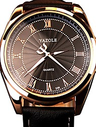 cheap -Men's Quartz Military Watch Japanese Casual Watch Noctilucent Genuine Leather Band Fashion Black Brown