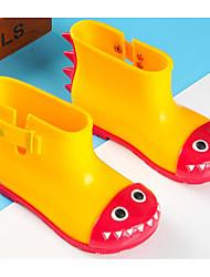 billige -Pige Drenge Sko PVC-læder Forår Efterår Gummistøvler Komfort Støvler Ankelstøvler for Afslappet udendørs Gul Rød Blå