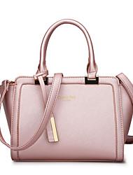 cheap -Women's Bags leatherette / PU Tote Zipper Black / Blushing Pink / Gray