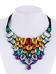 cheap -Collar Necklace - Elegant, Oversized Rainbow 50 cm Necklace Jewelry For Evening Party, Date