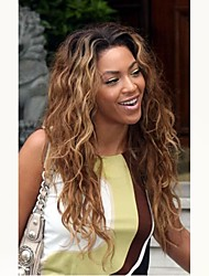 cheap -Unprocessed Human Hair Lace Front Wig Brazilian Hair / Natural Wave Wavy Wig Middle Part 130% With Baby Hair / Ombre Hair / Dark Roots Auburn Women's Short / Long / Mid Length Human Hair Lace Wig