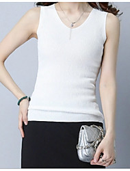 cheap -Women's Cute Basic Vest - Solid Colored