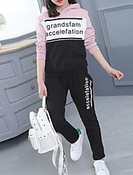 cheap -Kids Girls' Print Long Sleeve Cotton Clothing Set