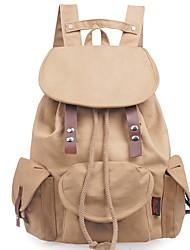 Недорогие -Жен. Мешки рюкзак Пуговицы для на открытом воздухе Коричневый
