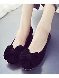 abordables -Femme Chaussures Flocage Printemps Automne Ballerine Confort Ballerines Talon Plat pour Noir Bleu Rose