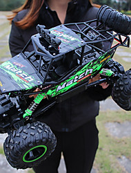 baratos -Carro com CR Monster Truck Rock Crawlers 4WD Canal 4 2.4G Urbano / Rock Climbing Car / Off Road Car 1:12 Electrico Não Escovado 12 km/h Impermeável / Lanterna / Antichoque