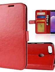 economico -Custodia Per Huawei Y9 (2018)(Enjoy 8 Plus) Y7 Prime (2018) Porta-carte di credito A portafoglio Con chiusura magnetica A calamita