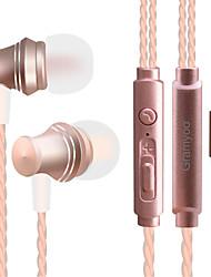 abordables -X13 Dans l'oreille Entrée Audio Ecouteurs Dynamique Aluminum Alloy Sport & Fitness Écouteur Avec contrôle du volume / Avec Microphone